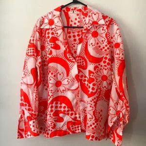 HOST PICK Vintage Flower Power Disco Shirt Size L